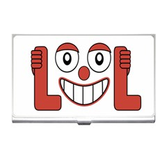 Laughing Out Loud Illustration002 Business Card Holder by dflcprints