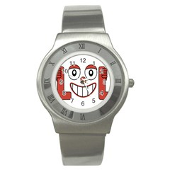 Laughing Out Loud Illustration002 Stainless Steel Watch (slim) by dflcprints