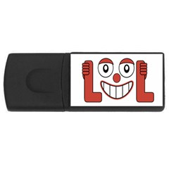 Laughing Out Loud Illustration002 4gb Usb Flash Drive (rectangle) by dflcprints