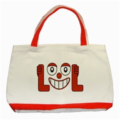 Laughing Out Loud Illustration002 Classic Tote Bag (Red) by dflcprints