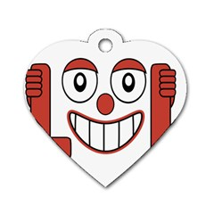 Laughing Out Loud Illustration002 Dog Tag Heart (two Sided) by dflcprints