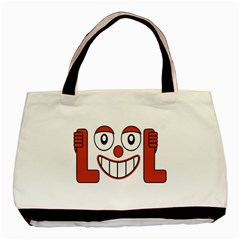 Laughing Out Loud Illustration002 Twin Sided Black Tote Bag by dflcprints