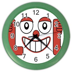Laughing Out Loud Illustration002 Wall Clock (color) by dflcprints