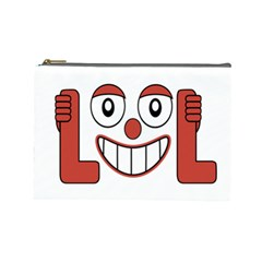 Laughing Out Loud Illustration002 Cosmetic Bag (large) by dflcprints