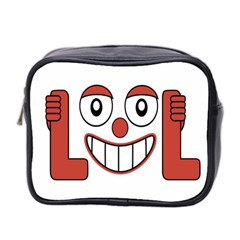 Laughing Out Loud Illustration002 Mini Travel Toiletry Bag (two Sides) by dflcprints