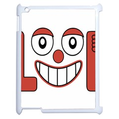 Laughing Out Loud Illustration002 Apple Ipad 2 Case (white) by dflcprints