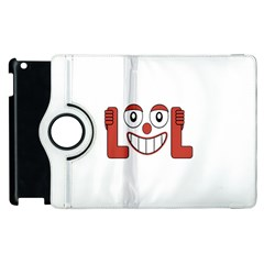 Laughing Out Loud Illustration002 Apple Ipad 2 Flip 360 Case by dflcprints