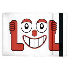 Laughing Out Loud Illustration002 Apple Ipad Air Flip Case by dflcprints