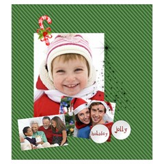 Xmas By Xmas   Drawstring Pouch (large)   Wgvhy0bam7fx   Www Artscow Com Front