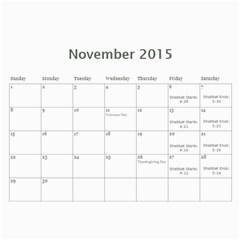 Cal 2015 By Shoshana   Wall Calendar 11  X 8 5  (12 Months)   Fvar20nqv347   Www Artscow Com Nov 2015