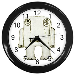 Sad Monster Baby Wall Clock (black) by dflcprints