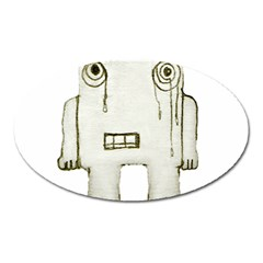 Sad Monster Baby Magnet (oval) by dflcprints