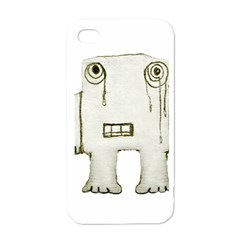 Sad Monster Baby Apple Iphone 4 Case (white) by dflcprints