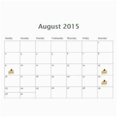 Eddies 2015 Calendar By Katy   Wall Calendar 11  X 8 5  (12 Months)   Lo7u50uwrn1k   Www Artscow Com Aug 2015