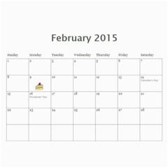 Eddies 2015 Calendar By Katy   Wall Calendar 11  X 8 5  (12 Months)   Lo7u50uwrn1k   Www Artscow Com Feb 2015
