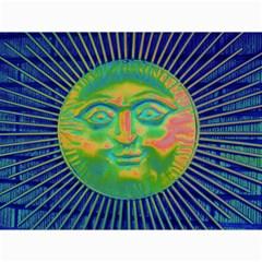 Sun Face Canvas 12  X 16  (unframed) by sirhowardlee