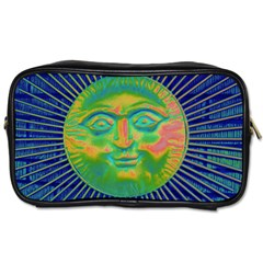 Sun Face Travel Toiletry Bag (one Side) by sirhowardlee