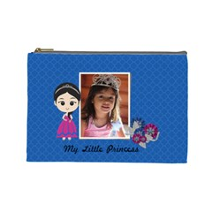 Cosmetic Bag (l): My Little Princess By Jennyl   Cosmetic Bag (large)   Jadc1gsep1bg   Www Artscow Com Front
