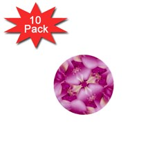 Beauty Pink Abstract Design 1  Mini Button (10 Pack) by dflcprints