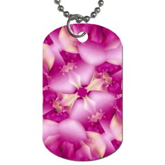 Beauty Pink Abstract Design Dog Tag (one Sided) by dflcprints