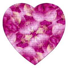 Beauty Pink Abstract Design Jigsaw Puzzle (heart) by dflcprints