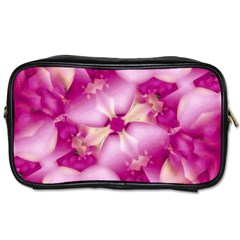 Beauty Pink Abstract Design Travel Toiletry Bag (one Side) by dflcprints
