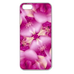 Beauty Pink Abstract Design Apple Seamless Iphone 5 Case (clear) by dflcprints