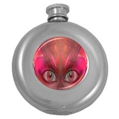 Hypnotized Hip Flask (round) by icarusismartdesigns