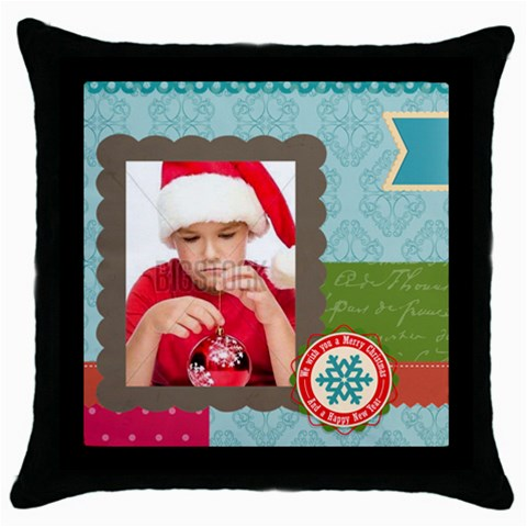 Xmas By Xmas4   Throw Pillow Case (black)   Lspl77ugg3wt   Www Artscow Com Front