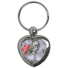 Looking Forward To Spring Key Chain (heart) by icarusismartdesigns