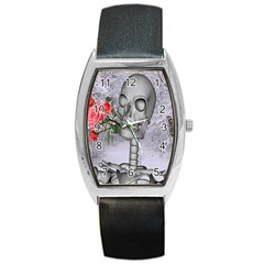 Looking Forward To Spring Tonneau Leather Watch by icarusismartdesigns