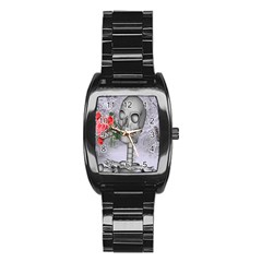 Looking Forward To Spring Stainless Steel Barrel Watch by icarusismartdesigns