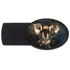 Golden Eagle 4gb Usb Flash Drive (oval) by JUNEIPER07