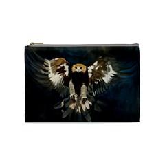 Golden Eagle Cosmetic Bag (medium) by JUNEIPER07