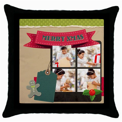 Xmas By Xmas4   Throw Pillow Case (black)   7gmh2oxt5mun   Www Artscow Com Front