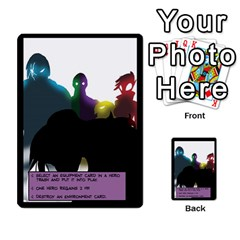 Sentinels 54 Card Promos By Sasha   Multi Purpose Cards (rectangle)   07y5jdkks28u   Www Artscow Com Back 37
