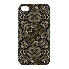 Steam Punk Pattern Print Apple Iphone 4/4s Premium Hardshell Case by dflcprints
