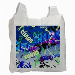 Pure Chaos White Reusable Bag (two Sides) by StuffOrSomething