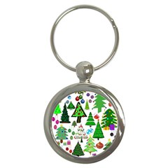 Oh Christmas Tree Key Chain (round)