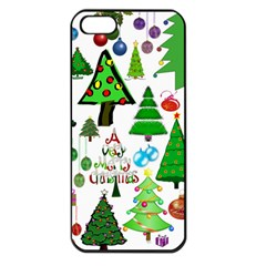 Oh Christmas Tree Apple Iphone 5 Seamless Case (black) by StuffOrSomething