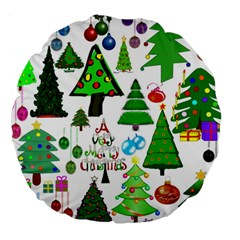 Oh Christmas Tree 18  Premium Round Cushion  by StuffOrSomething