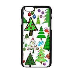 Oh Christmas Tree Apple iPhone 6 Black Enamel Case by StuffOrSomething