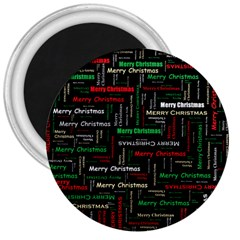 Merry Christmas Typography Art 3  Button Magnet by StuffOrSomething