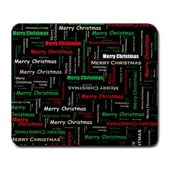Merry Christmas Typography Art Large Mouse Pad (rectangle) by StuffOrSomething
