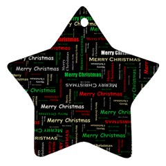 Merry Christmas Typography Art Star Ornament (two Sides) by StuffOrSomething