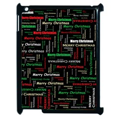 Merry Christmas Typography Art Apple Ipad 2 Case (black) by StuffOrSomething