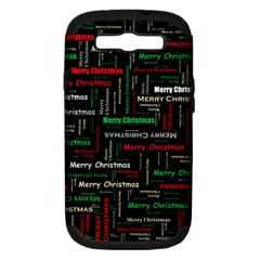 Merry Christmas Typography Art Samsung Galaxy S Iii Hardshell Case (pc+silicone) by StuffOrSomething