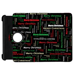 Merry Christmas Typography Art Kindle Fire Hd Flip 360 Case by StuffOrSomething