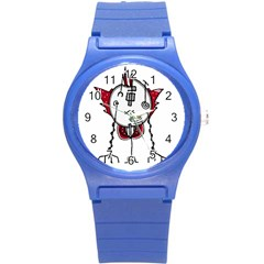 Alien Robot Hand Draw Illustration Plastic Sport Watch (small) by dflcprints