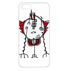 Alien Robot Hand Draw Illustration Apple Iphone 5 Seamless Case (white) by dflcprints